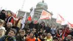 Bähnler mit Kind und Kegel in Bern.