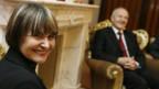 Bundesrätin Micheline Calmy-Rey und Fatmir Sejdiu, Präsident des Kosovo