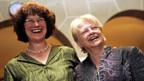 Wahlsiegerin Ruth Genner (l) und ihre Vorgängerin, Monika Stocker.