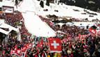 Tausende feiern das Skifest in Adelboden.