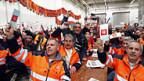 Streik im SBB-Industriewerk in Bellinzona.