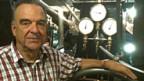Maurice Decoppet, Präsident des Vereins Freunde der Raddampfer auf dem Genfersee im Maschinenraum des Raddampfers «la Suisse».