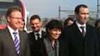 v.l.n.r. Andreas Meyer, SBB Chef, Doris Leuthard, Verkehrsministerin und Mark Muller, Präsident Genfer Kantonsregierung.