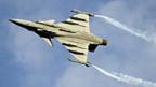 Das schwedische Kampfflugzeug Gripen