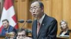 Ban Ki Moon spricht vor der Bundesversammlung