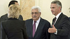 Palästinenserpräsident Abbas (mitte) wird vom Bundesrat empfangen.