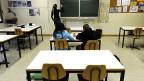 Nur zwei von 22 SchülerInnen kamen in Barbengo zum Unterricht - mit einer Ersatzlehrerin.