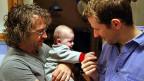 Mitchell und Max mit der gemeinsamen Tochter Nathalia.