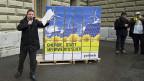 Die GLP reicht ihre Initiatiave «Energie- statt Mehrwertsteuer ein. 17. Dezember 2012 in Bern.