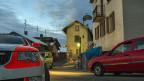 Polizeipräsenz im Walliser Dorf Daillon - nach der Schiesserei mit drei Toten.