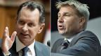 Philipp Müller, FDP und Toni Brunner, SVP - bessere Zusammenarbeit tut not.