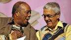 Musiker und Musikproduzent Quincy Jones mit Claude Nobs im Juli 2008 in Montreux.