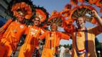 Friedlich, fröhlich: Das waren die holländischen Fans in Bern und Basel.