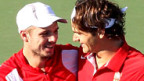 Chancen auf eine Medaille: Stanislas Wawrinka (l.) u. Roger Federer.