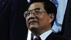 Chinas Präsident Hu Jintao an der Schlussfeier.