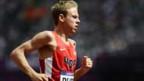 Galen Rupp am 5000 Meter-Lauf an den Olympischen Sommerspielen 2012 in London
