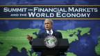 George W. Bush am Gipfel in Washington.