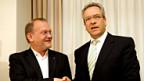 Lufthansa-Personalchef Stefan Lauer und Ver.di-Verhandlungsführer Erhard Ott.