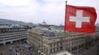 Blick auf den Zürcher Paradeplatz mit den Banken UBS und Credit Suisse.