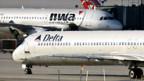 Zusammenschluss der US-Airlines Delta und Northwest.