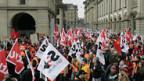 Protestkundgebung der SBB-Angestellten in Bern.