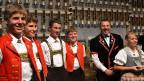 Kappelle Weissbad und Fabienne Portmann, die strahlenden Sieger des Folklorenachwuchs-Wettbewerbs 2012.