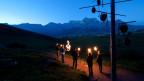 Neu im Programm der KlangWelt Toggenburg ist auch eine Nachtführung durch den Klangweg.