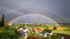 Doppelter Regenbogen über Oberbuchsiten