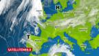 Europakarte mit Isobaren, Hoch und Tief