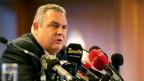 Der griechische Verteidigungsminister Panos Kammenos gab am Sonntag den Austritt aus der Regierungskoalition bekannt.