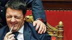 Italiens neuer Premier Matteo Renzi am 24. Februar im Senat. Er hat gut lachen. Und das Volk?
