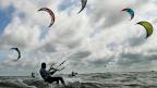 Kite Surfer in Aktion