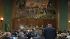 Das Walliser Kantonsparlament während einer Sitzung