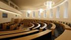 Leerer Parlamentssaal in Aarau