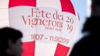 Werbung für das Winzerfest in Vevey