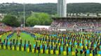 Farbenfroher Schlusspunkt des Eidgenössischen Turnfests im Bieler Gurzelen-Stadion.