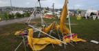 Die Schäden nach dem Turnfest werden untersucht.
