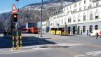 Der Platz vor dem Bahnhof soll sicherer werden für Fussgänger.