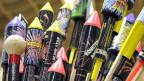 Ein ganzes Arsenal an Feuerwerks-Raketen.