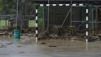 Die Zerstörungen nach dem Hochwasser der Emme in Bumbach.