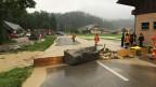 Überschwemmte Strasse in Süderen.