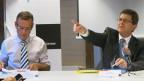 Stadtpräsident Erich Fehr (rechts) bestimmt künftig auch in Beat Feuers Direktion mit.