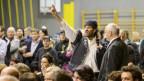 Aufgebrachte Stimmung am Infoabend zum Asylzentrum in Giffers.