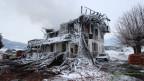 Das im Januar abgebrannte Hotel Kaiseregg in Plaffeien: Brandursache unklar.
