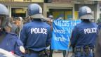Polizei gegen Antifa in Bern