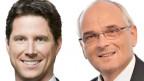 Lars Guggisberg (l.) und Pierre Alain Schnegg wollen für die SVP in die Berner Kantonsregierung.