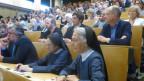 Einweihung des Islamzentrums in Freiburg mit religiös gemischtem Publikum.