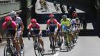 Rennvelofahrer der Tour de France auf der Strasse