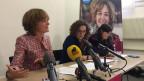 Portrait Ursula Wyss an der Medienkonferenz