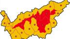 Waldbrandgefahr im Wallis an verschiedenen Orten.